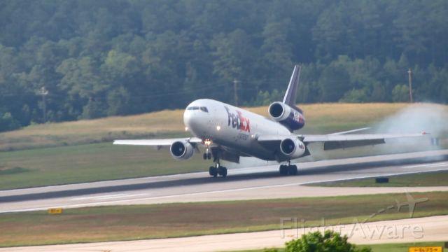 McDonnell Douglas DC-10 (N389FE) - N389FE substituting for the normal 763 for FDX785 on the KMEM-KRDU route on June 8, 2018.