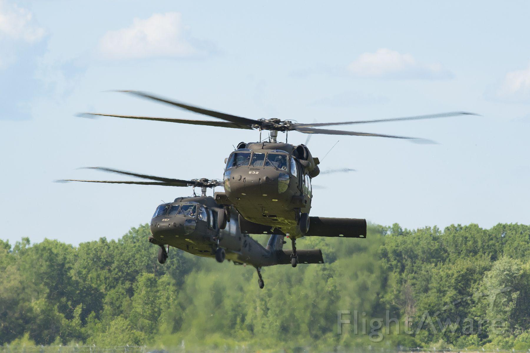 N532 — - Michigan Army National Guard UH-60 Blackhawks on training mission.