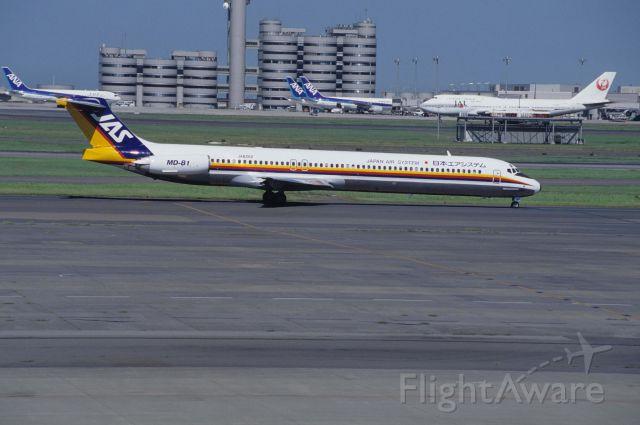 McDonnell Douglas MD-81 (JA8262) - Taxing at Tokyo-Haneda Intl Airport on 1994/08/16