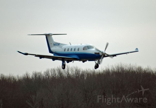 Pilatus PC-12 (N493AF) - Pilatus PC-12/47E arriving at CYPQ from KBED on March 2, 2017. This was flight CNS207