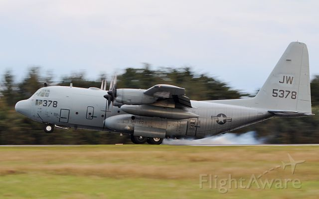"Lockheed C-130 Hercules (16-5378) - ""cnv3443"" usn c-130t 165378 landing at shannon this evening 5/4/19."