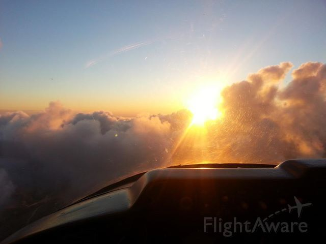 Cessna 310 (N2282F) - IFR on top over GRB