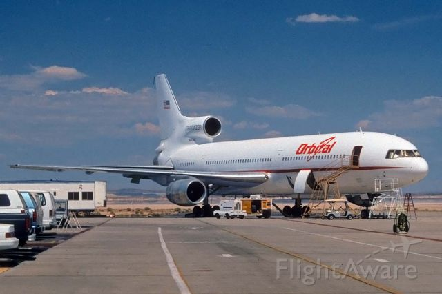Lockheed L-1011 TriStar (N140SC) - Lockheed L-1011 N140SC Stargazer on the flightline at the Dryden Flight Research Center at Edwards Air Force Base on July 29, 1997. Stargazer was participating in Adaptive Performance Optimization experiments for the Dryden Flight Research Center.