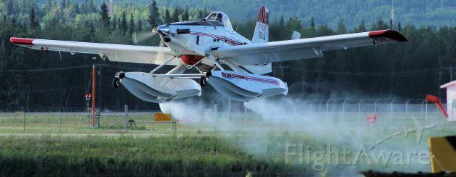 — — - Firecat venting overflow on takeoff.