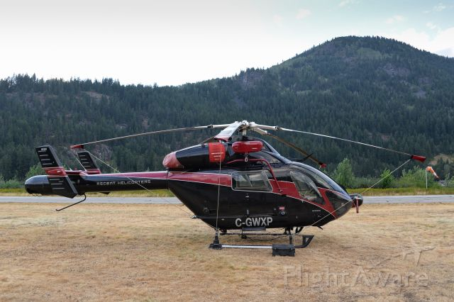 Learjet 31 (C-GWXP) - Ascent Helicopters MD900 Explorer spotted in Nelson, British Columbia over the summer.