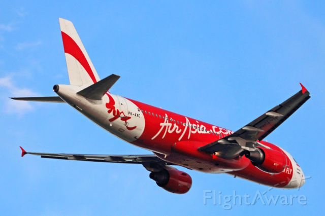 Airbus A320 (PK-AXD) - Airbus A-320 Air Asia Indonesia PK-AXD PER/YPPH twilight departure from R21 4/6/16.