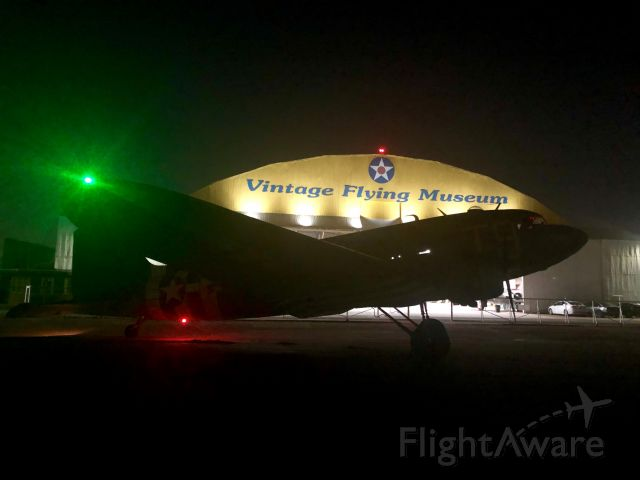 Douglas DC-3 (N87745) - Fired up, early morning departure to Burnett, Texas