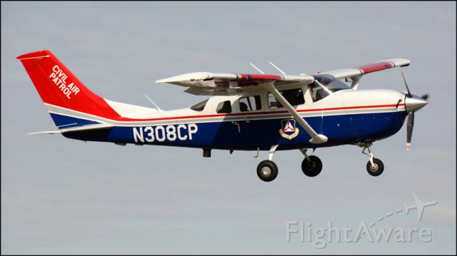 """Cessna T206 Turbo Stationair (N308CP) - Call-sign """"CAP 3"""" departing the Merced Regional Airport (KMCE)"""