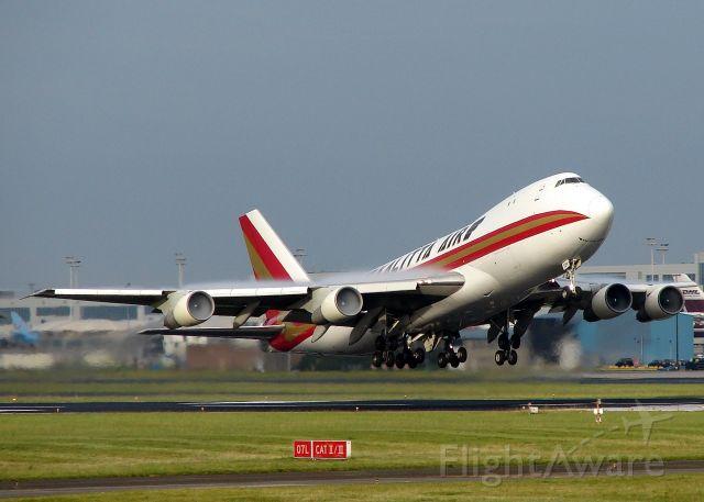 Boeing 747-200 (N704CK) - take off  runway 25r