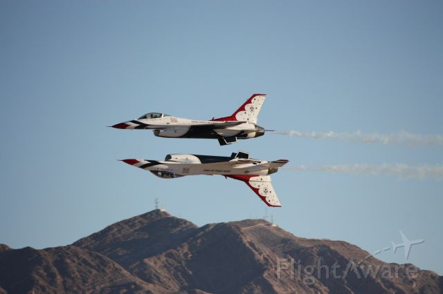 — — - Thunderbirds at Nellis Air Force Base