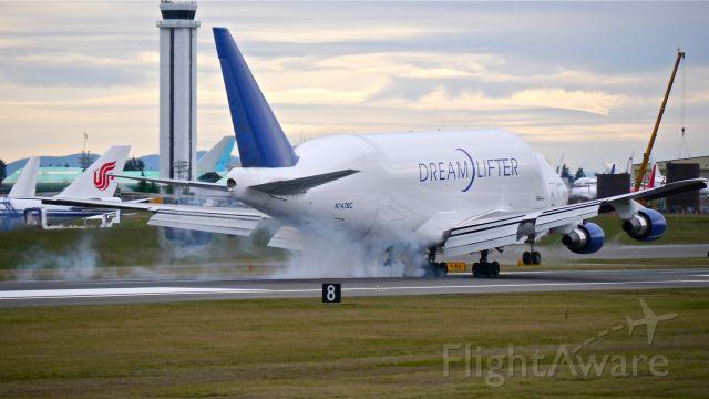 Boeing 747-400 (N747BC) - GTI4451 from KIAB landing on Rwy 16R on 12/8/14. (ln 904 / cn 25879).