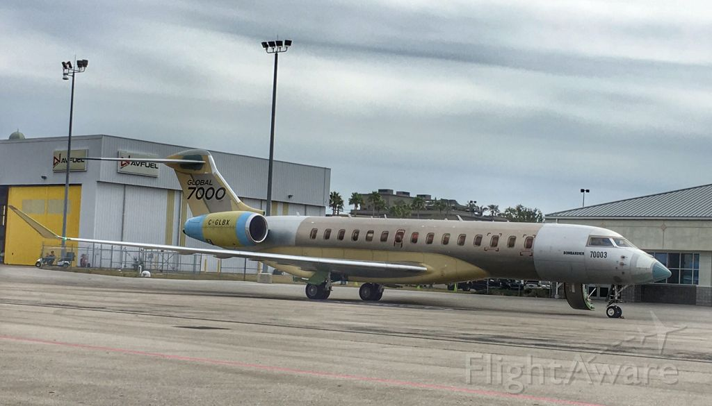 Bombardier Global Express (C-GLBX) - New Global 7000 at TPA.