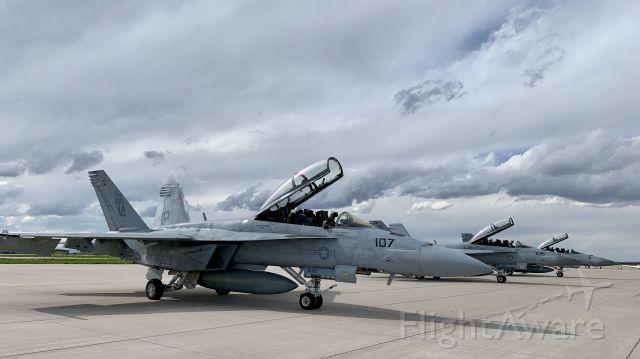 McDonnell Douglas FA-18 Hornet — - At Modern-Aviation FBO
