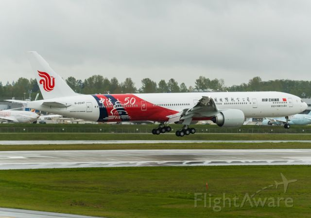 Boeing 777-200 (B-2047) - B-2047: Air China special livery showing the 50 Years of Chinese-French Diplomatic Relations