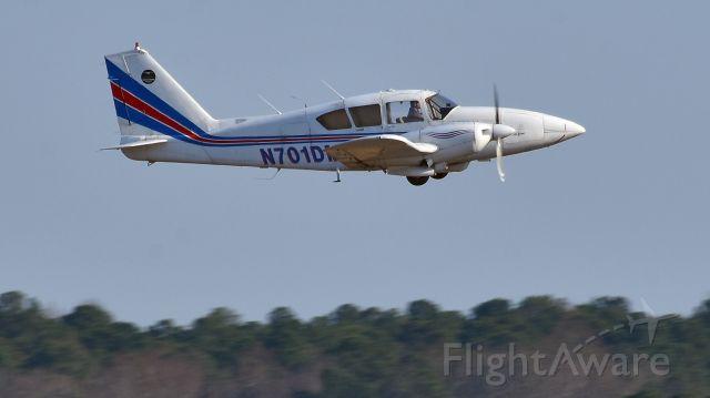 Piper Aztec (N701DM) - N701DM Piper PA-27 departs KRDU runway 23L on 2/11/17.