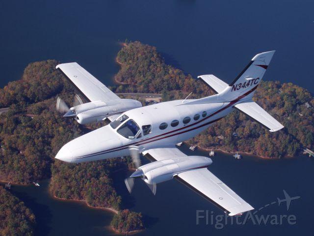Cessna 421 (N344TC) - Air to Air photo shoot for Lanier Flight Express.  Shot from a Cessna 182RG (N9947C) over Lake Lanier.