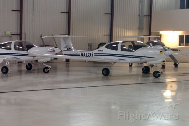 Diamond Star (N422FP) - In the USU hangar at Logan-Cache Airport.