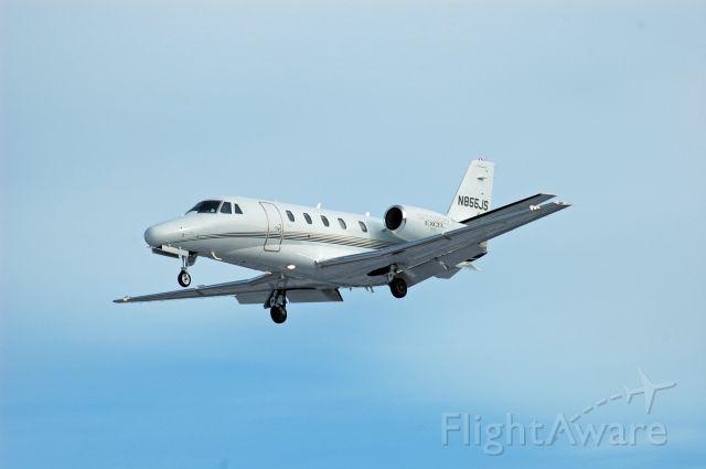Cessna Citation Excel/XLS (N855JS) - 2000 Cessna 560XL Citation Excel (N855JS/560-5064) arriving from John C. Munro Hamilton International Airport (CYHM) on January 9, 2021