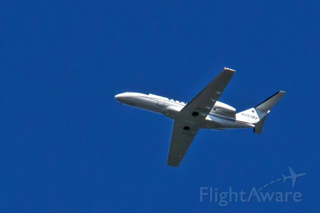 Cessna Citation CJ4 (N357BV) - Subject aircraft photographed over Northern New Jersey on 15-Sep-2019 at 1131HrsEDT while enroute to Morristown, NJ, (MMU), from Bedford, MA, (BED).<br /><br />This photo was taken with a 135mm lens on a crop sensor body and as a result is tightly cropped and enlarged 50%.
