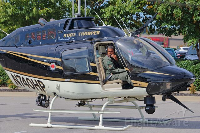 N740HP — - Mount Juliet, TN, September 29, 2018 -- This Tennessee Highway Patrol Bell 206B prepares to depart an event near the Lebanon Municipal Airport.
