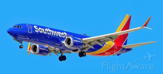 Boeing 737 MAX 8 (N8701Q) - N8701Q Southwest Airlines Boeing 737-8 MAX s/n 42554 - Las Vegas -  Harry Reid International Airport (KLAS)br /USA - Nevada August 18, 2021br /Photo: Tomás Del Coro br /SunSet Park