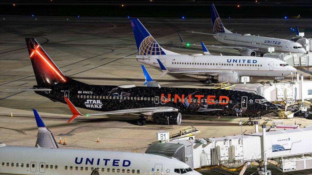 Boeing 737-800 (N36272) - Star Wars livery staying overnight alongside a few other United 737'sbr /4/9/20