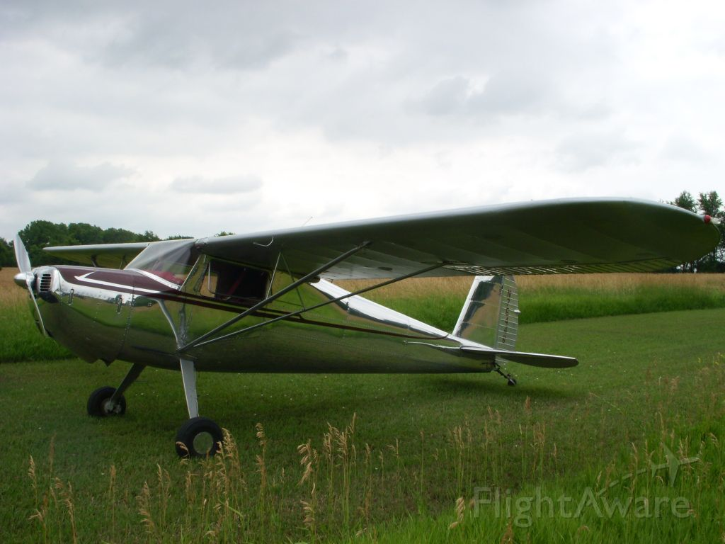 Cessna 120 (N76446) - July 4 just before hay cutting