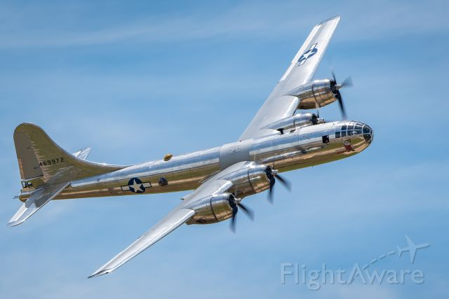 """Boeing B-29 Superfortress (N69972) - The B-29 """"Doc"""" performs a flyby at the Star Spangled Salute air show at Tinker Air Force Base."""