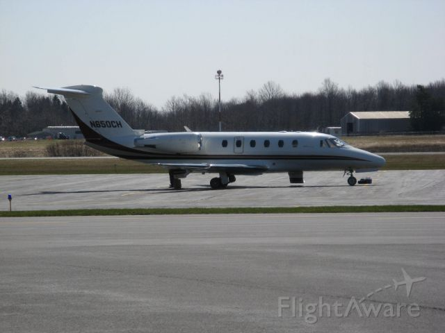 Cessna Citation III (N650CH) - Cessna Citation III at Oswego County Airport after flight from KSTP (St. Paul, MN) on 4/10/09.