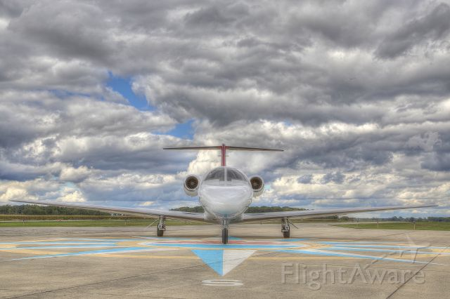 Cessna Citation CJ3 (N443PW) - Front view of N443PW on ramp at TTF