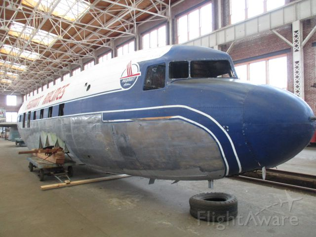 Douglas DC-3 (N56V) - In restoration at the North Carolina Transportation Museum in Spencer, NC.  Getting close...