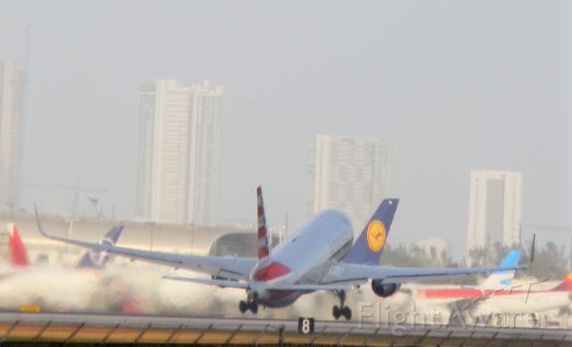 BOEING 767-300 (N391AA) - Rotating for Milan(Milano)
