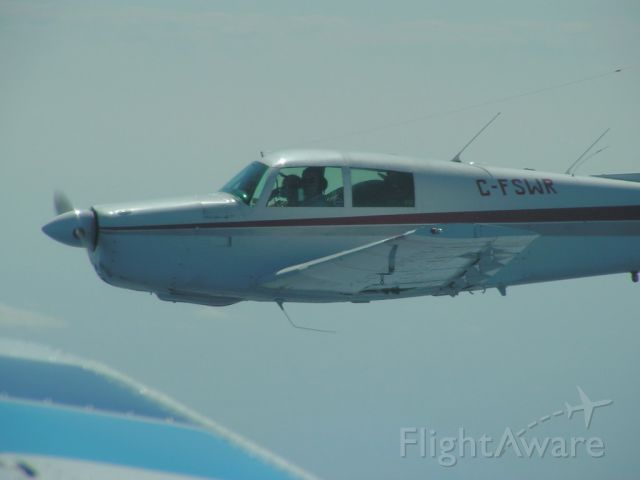Mooney M-20 (C-FSWR) - At 8,500' over Sault Ste Marie Ontario on our way back from Oshkosh 2010.