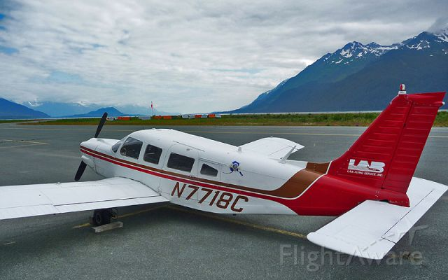Piper Saratoga (N7718C) - Got a few hours in 18C back in the 90s while flying for Layton & Lynn. Went to the SE Alaska State Fair in Haines in 2010 (my first time back in 15 years) and while waiting for our flight to Juneau, I snapped this shot. Standing there on the Haines ramp looking down the canal sure brought back some memories.