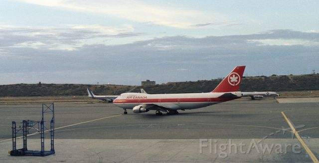 BOEING 747-100 — - Air Canada 747-100 departing after refueling at Caracas. This photo was taken by my father in 1987.