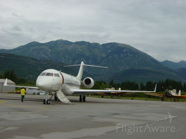 Bombardier Global 5000 (VP-BWB) - Tivat, Montenegro