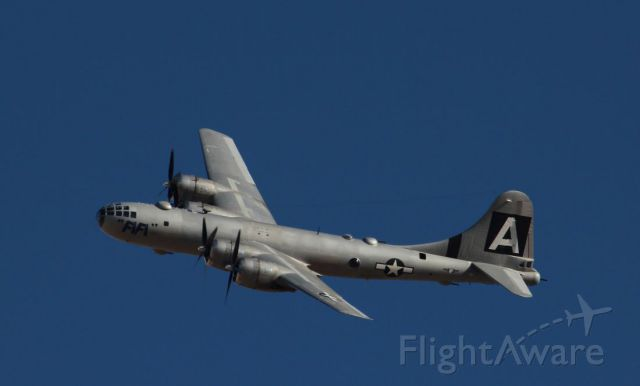 Boeing B-29 Superfortress — - Fifi arriving at Nellis AFB for Veterans Day airshow, 2017
