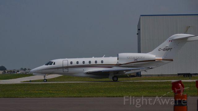 "Cessna Citation X (C-GAPT) - A ""Cessna Citation X"" taxing at ""Windsor International Airport""."