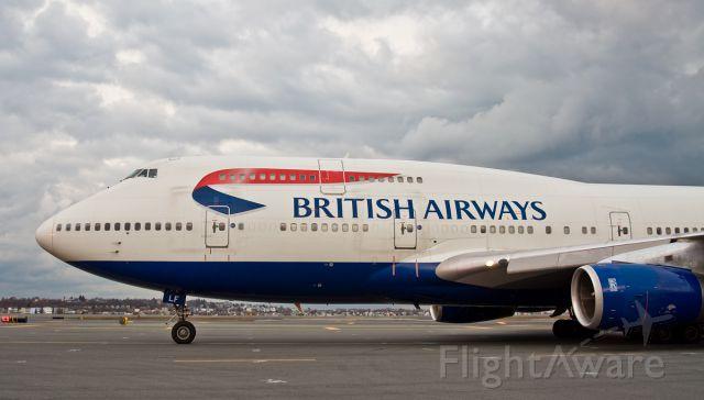 Boeing 747-400 (G-BNLF) - Stormy Speedbird @ KBOS Logan Airport Boston,Ma 02128