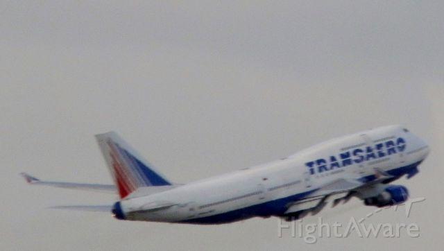 Boeing 747-400 (EI-XLM) - Departing for Moscow (Vnukovo)