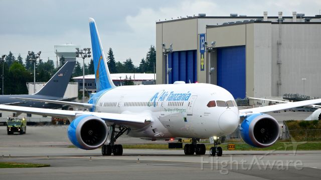 Boeing 787-8 (5H-TCG) - BOE958 taxis onto Rwy 16R for a C1 flight on 6.30.18. (ln 719 / cn 64249). This is the first Dreamliner for Air Tanzania.