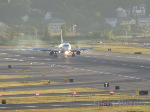 Airbus A321 — - Jet Blue flt 834 rolling out on 22L at Boston Logan.  Arriving from SFO on 21 July 18.  The RED EYE has landed!