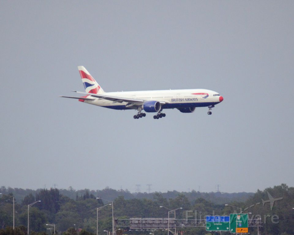 Boeing 777-200 (G-VIIT) - Imaged on 4/14/12