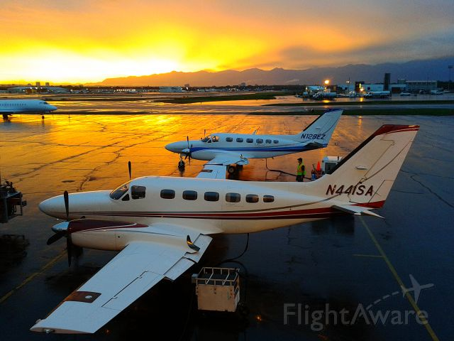 Cessna Conquest 2 (N441SA) - Sunrise at Security Aviation ramp in Anchorage
