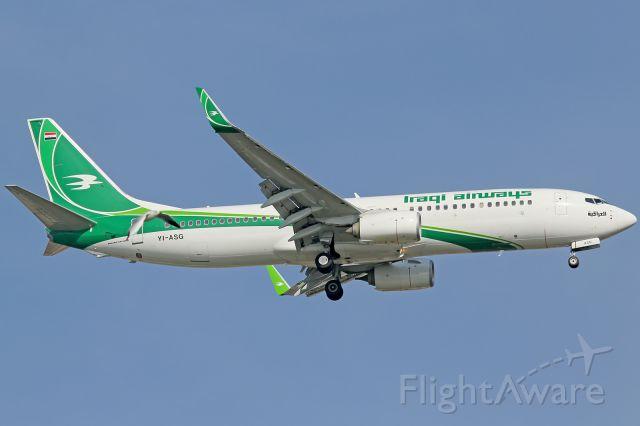 Boeing 737-800 (YI-ASG) - Such a bird that i like
