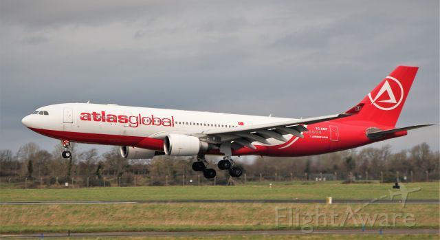 Airbus A330-200 (TC-AGF) - atlas global a330-203 tc-agf landing at shannon 25/1/20.