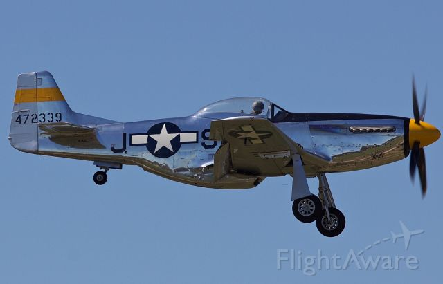 """North American P-51 Mustang (NL51JC) - The Cavanaugh Flight Museums P-51D """"Brat III"""" arriving for the Alliance Airshow 10/10/2018. This Mustang has a documented WWII combat history, a true pice of history right here! (Please view in """"full"""" for highest image quality)"""