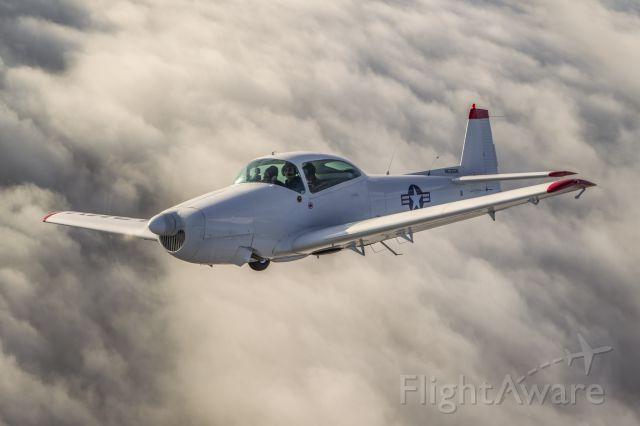 North American Navion (N5355K) - Navion over fogbank