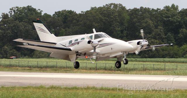 Beechcraft Duke (N505GE) - A Beechcraft A60 Duke arriving Runway 18 at Pryor Regional Airport, Decatur, AL - August 16, 2018.