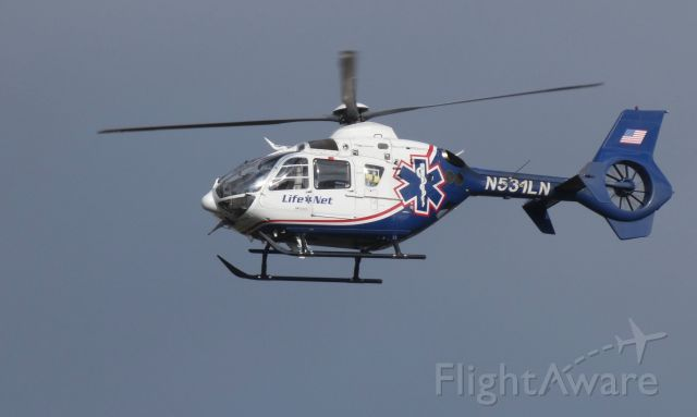Eurocopter EC-635 (N531LN) - On approach is this 2006 Life Net Eurocopter EC-635 in the Autumn of 2018.